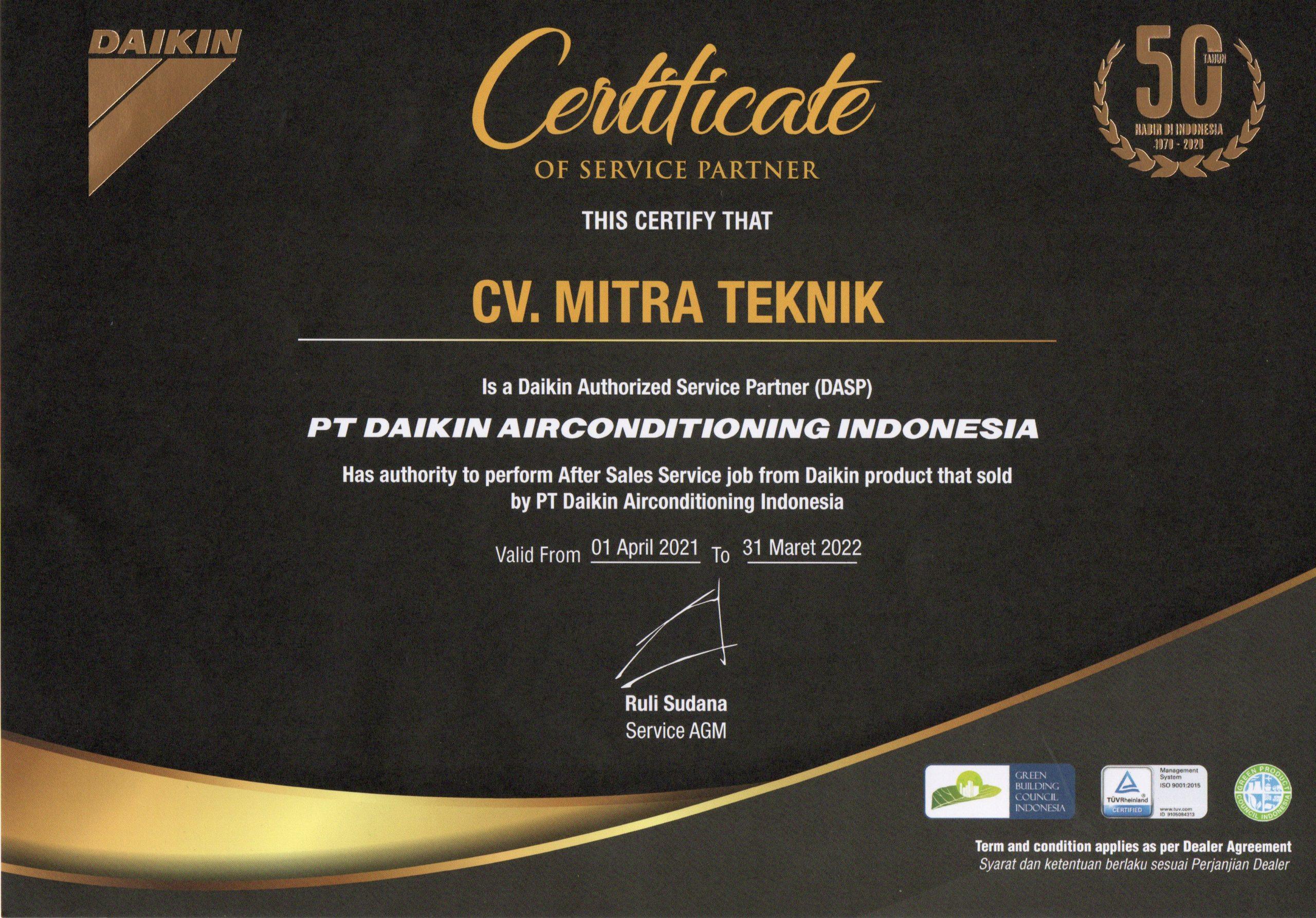 CV. Mitra Teknik - DASP